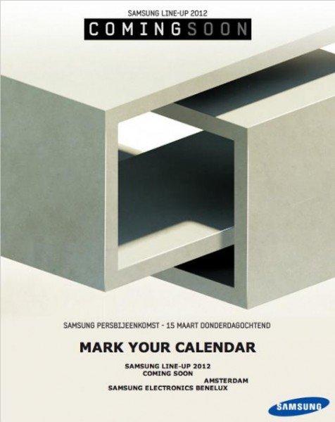 Samsung Presse-Event am 15. März