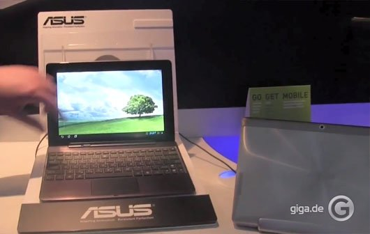 MWC 2012: ASUS Transformer Pad Infinity 700 series Hands-On