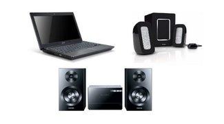Amazon-Blitzangebote: Philips Lautsprechersystem, Microanlage von Samsung und Notebook von Acer