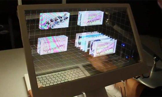 3D-Desktop von Microsoft wie in Minority Report