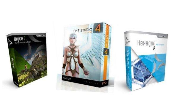 Aktion verlängert: DAZ Studio 4 Pro, Bryce 7 Pro und Hexagon 2.5 weiterhin kostenlos