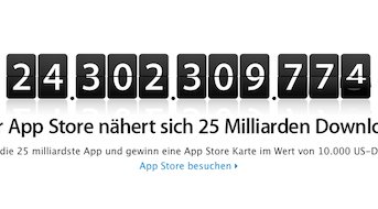Countdown zu 25 Milliarden App Store Downloads gestartet