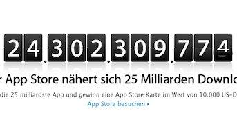 Countdown zu 25 Milliarden App Store Downloads gestartet
