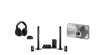 Funkkopfhörer, Heimkinosystem und Digitalkamera im Angebot bei Amazon