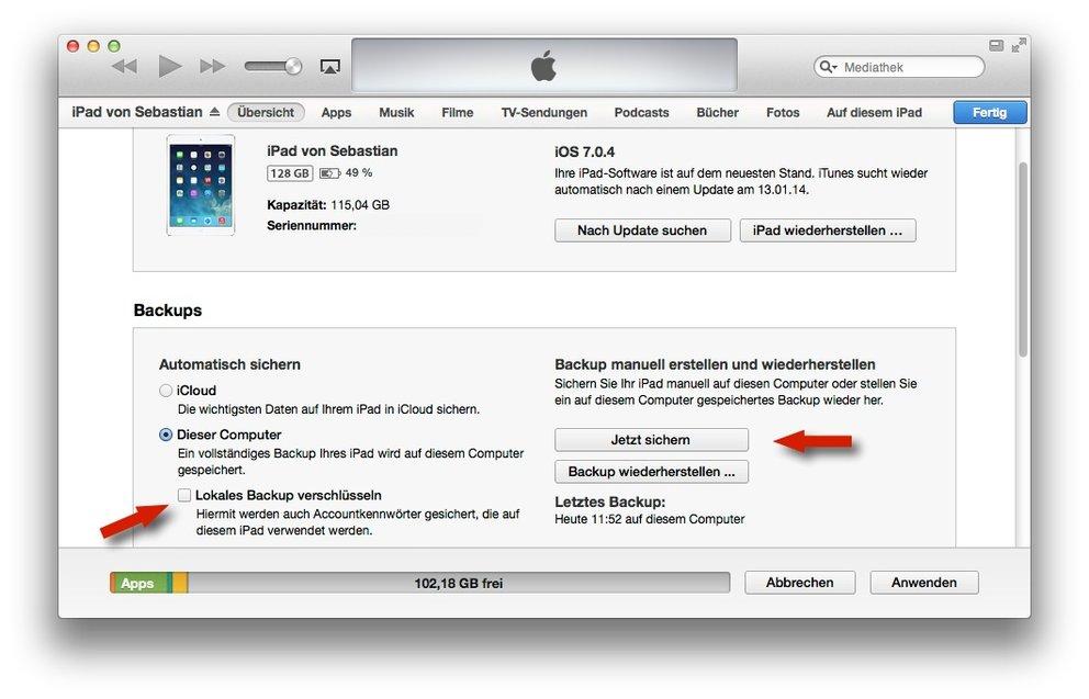 Code-vergessen-iPhone-iPad-unverschlusselt-Backup