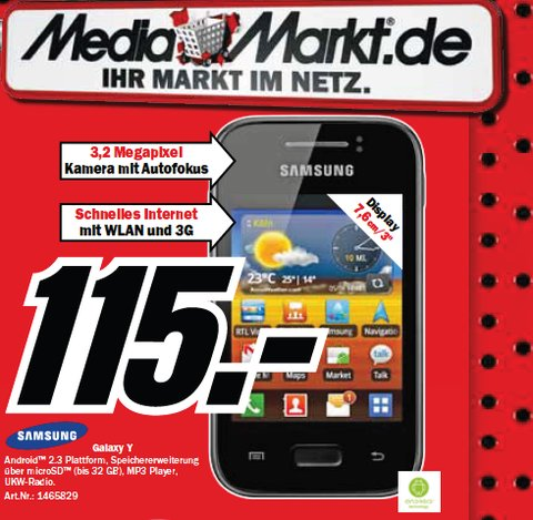 Samsung Galaxy Y Media Markt