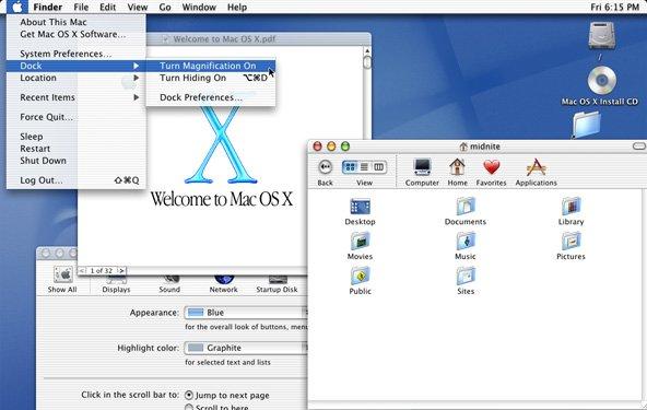 Mac OS X in Zahlen: Eine Übersicht der Updates