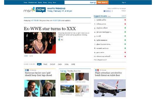 Microsoft startet Social-News-Webseite msnNOW