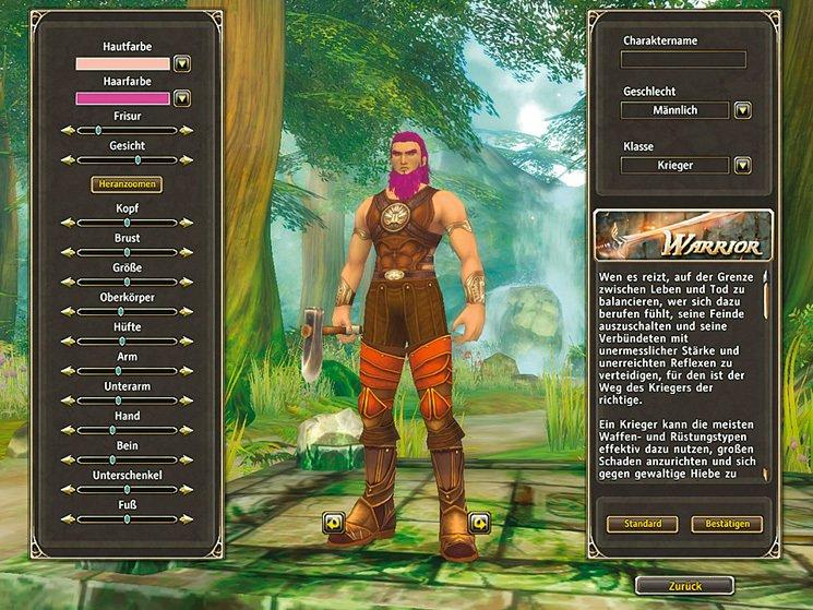 Runes of Magic: Die Charaktergenerierung lässt viel Spielraum für Fantasie