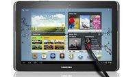 MWC 2012: Samsung Galaxy Note 10.1 mit S-Pen angekündigt