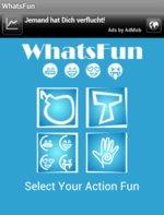 WhatsFun Android App Startbild