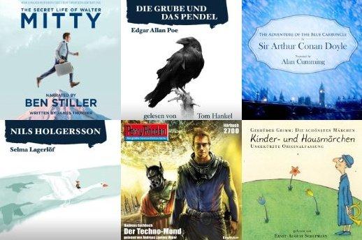 Über 10 Hörbücher kostenlos bei Audible - ohne Gutschein-Code: Krimis, Nils Holgersson, Walter Mitty...