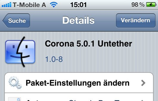 Corona 5.0.1 Untether: Neue Version 1.0-8 für Jailbreak-User