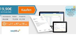 Online-Rechnungsabwicklung easybill für 19,90 statt 65,45 Euro