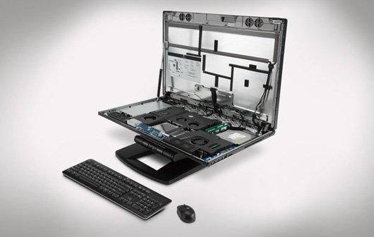 HP Z1 - Innovatives All-in-One-PC-Format zum Aufklappen
