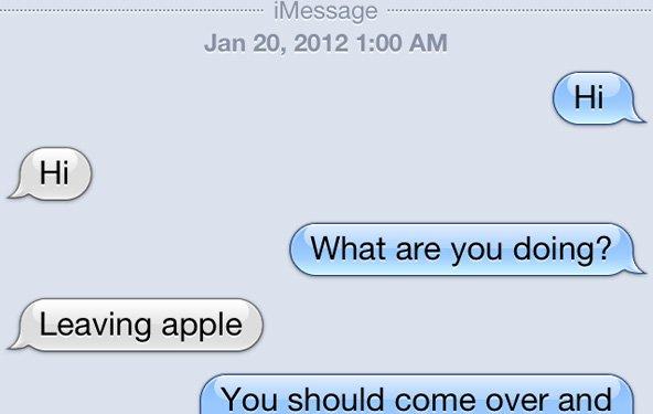 Freizügige Unterhaltungen: iMessage-Fehler trifft Apple-Store-Mitarbeiter