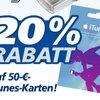Prospekt-Check: iTunes-Karten mit 20 Prozent Rabatt