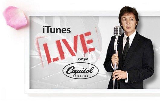 Paul McCartney live im iTunes-Stream