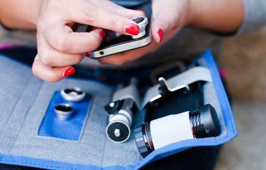 iPhone Lens Wallet: Objektiv-Tasche für iPhoneografen