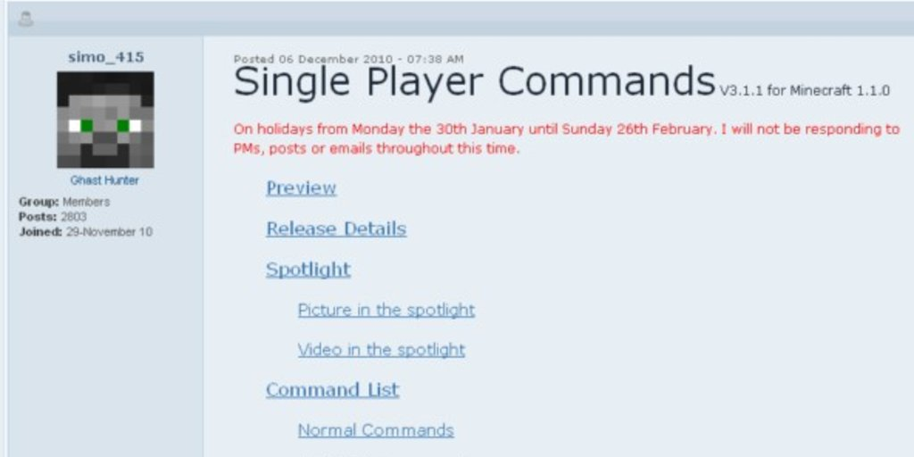 Minecraft Singleplayer Commands Mod GIGA - Spieletipps minecraft xbox one