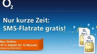 SMS-Flatrate gratis zum O2 Blue Tarif