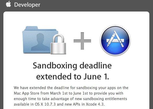 Sandboxing: Entwickler haben bis zum 1. Juni Zeit