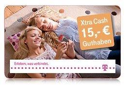 T-Mobile Xtra Cash 15,00 Euro (10 Stück) für 23,50 Euro bei Amazon