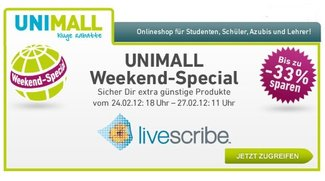 Livescribe-Aktion bei Unimall