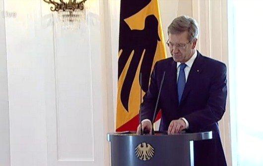 Wulff-Rücktritt: Die Erklärung des Bundespräsidenten im Video