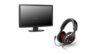 Ein Monitor von Iiyama und ein Headset von Sharkoon mit 20 % Rabatt