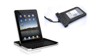 iGear Bluetooth-Tastatur für iPad und Unterwasser-Hülle im Angebot