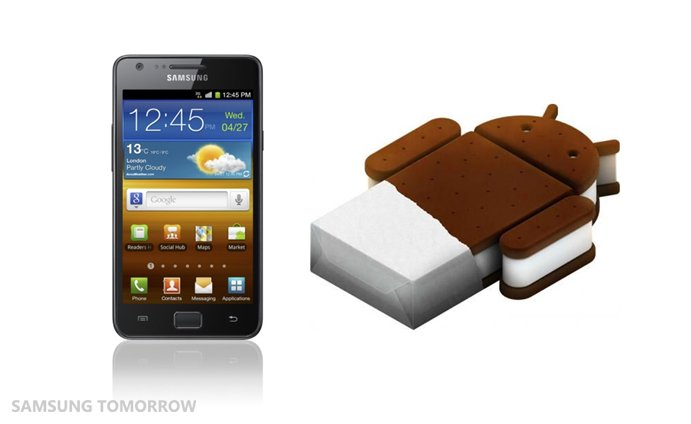 Samsung Galaxy S2 - Ab sofort mit Android 4.0 in den Regalen