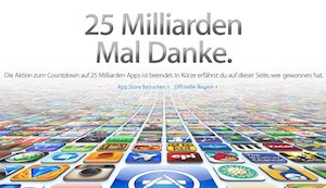 Die Top 25 iOS-Apps der 25 Milliarden Downloads