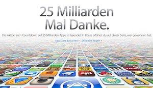 Die Top 25 iOS-Apps der 25 Milliarden Downloads