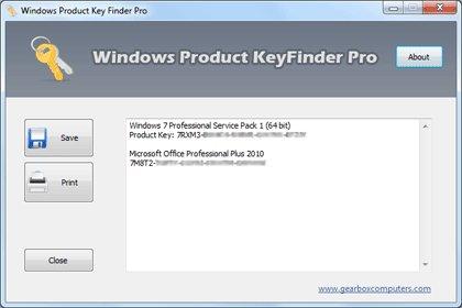 Windows Product KeyFinder Pro