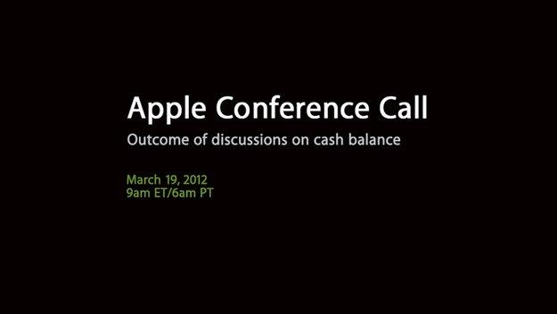 Apple kündigt Auszahlung einer Dividende und Aktien-Rückkauf an
