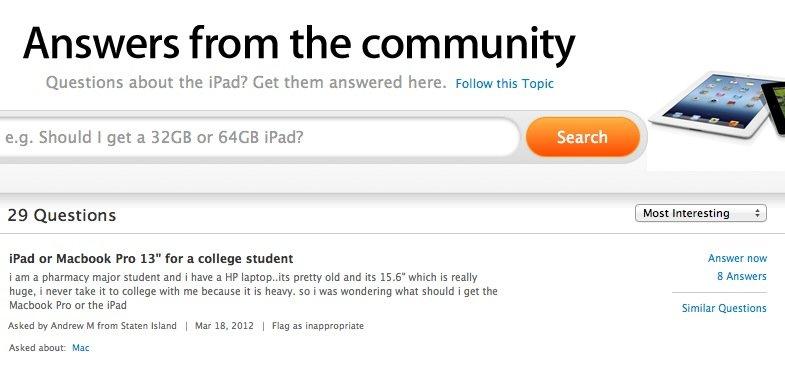 Apple Online Store: Neuer Fragen-/Antworten-Bereich