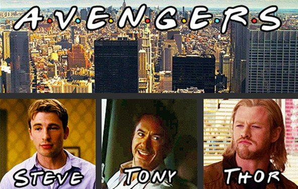The Avengers - witziges Mash-Up mit Friends