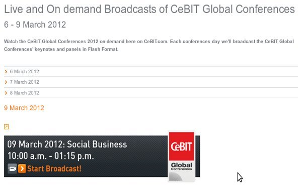 CeBIT interaktiv: Heute schon an Morgen denken