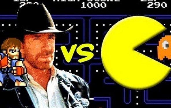 Chuck Norris vs. Pac Man