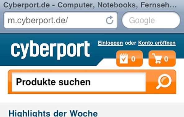 Cyberport: Neuer Mobile-Shop