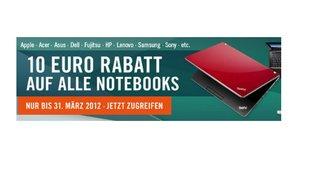 Gutscheincode für Cyberport: 10 Euro Rabatt auf alle Notebooks