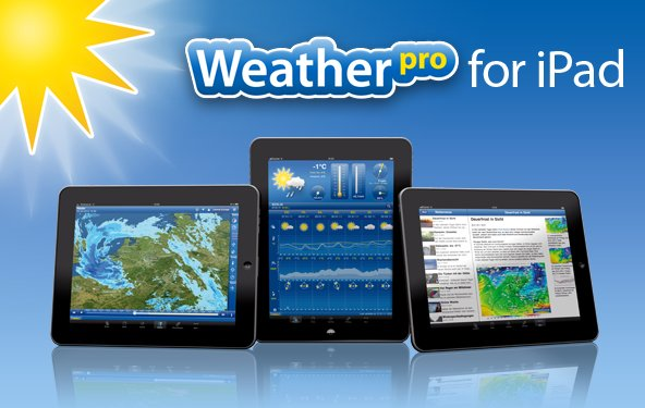 Neue Weather Maps fürs neue iPad mit WeatherPro for iPad 2.6