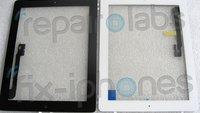 iPad-3-Fronten abgelichtet: Schwarz und weiß, inklusive Hometaste