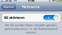 Akku-Tipp für das iPhone 4S: 3G ausschalten