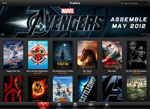 Film-Trailer: Apple aktualisiert App für iPad-Retina Display (Update)