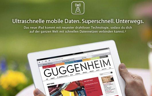 iPad 3 Wi-Fi + 4G: Apple verteidigt 4G-Bezeichnung