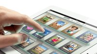 Nahaufname: Das Retina-Display des iPad unter dem Mikroskop