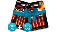 100 Kodak MAX Batterien für versandkostenfreie 21,99 Euro bei Unimall