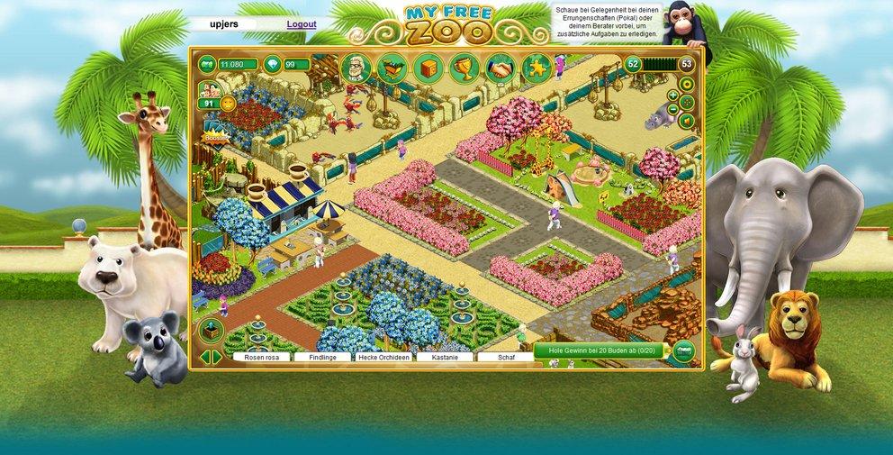 My Free Zoo: Mit Dekorationen verschönert ihr euren Zoo zusätzlich.